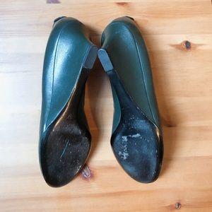 Gucci Shoes - Gucci wedge pumps 7 dark green PM